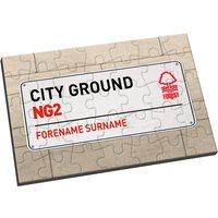 Personalised Nottingham Forest FC Street Sign Jigsaw