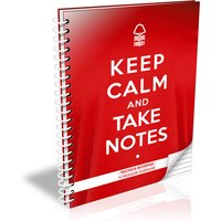 Personalised Nottingham Forest Keep Calm Notebook