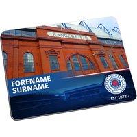 Personalised Rangers Stadium Mouse Mat