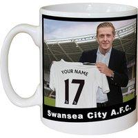 Personalised Swansea City Manager Mug