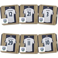 Personalised West Bromwich Albion Dressing Room Coasters (6 pack)