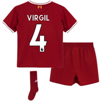 2017-18 Liverpool Home Mini Kit (Virgil 4)