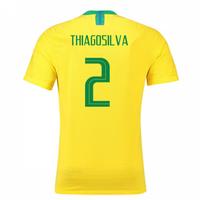 2018-2019 Brazil Home Nike Vapor Match Shirt (Thiago Silva 2)