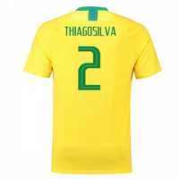 2018-2019 Brazil Home Nike Football Shirt (Thiago Silva 2)
