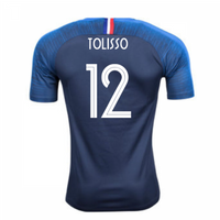 2018-2019 France Home Nike Football Shirt (Tolisso 12) - Kids