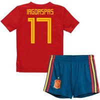 2018-19 Spain Home Mini Kit (Iago Aspas 17)