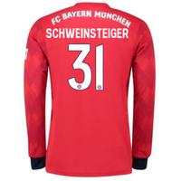 2018-2019 Bayern Munich Adidas Home Long Sleeve Shirt (Schweinsteiger 31) - Kids