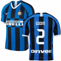 2019-2020 Inter Milan Home Nike Football Shirt (Godin 2)