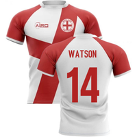 2020-2021 England Flag Concept Rugby Shirt (Watson 14)