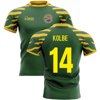 2020-2021 South Africa Springboks Home Concept Rugby Shirt (Kolbe 14)