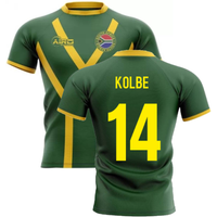 2020-2021 South Africa Springboks Flag Concept Rugby Shirt (Kolbe 14)