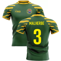 2020-2021 South Africa Springboks Home Concept Rugby Shirt (Malherbe 3)