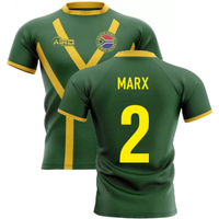 2020-2021 South Africa Springboks Flag Concept Rugby Shirt (Marx 2)