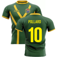 2020-2021 South Africa Springboks Flag Concept Rugby Shirt (Pollard 10)