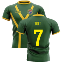 2020-2021 South Africa Springboks Flag Concept Rugby Shirt (Toit 7)