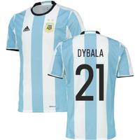 2016-2017 Argentina Home Adidas Football Shirt (Dybala 21)