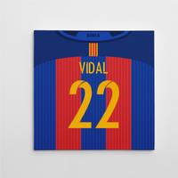 2016-2017 Barcelona Canvas Print (Vidal 22)