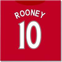 2016-2017 Man United Canvas Print (Rooney 10)