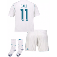 2017-17 Real Madrid Home Full Kit (Bale 11)