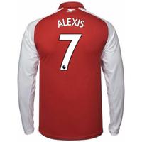 2017-18 Arsenal Home Long Sleeve Shirt (Alexis 7)