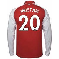 2017-18 Arsenal Home Long Sleeve Shirt - Kids (Mustafi 20)