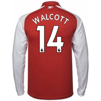 2017-18 Arsenal Home Long Sleeve Shirt - Kids (Walcott 14)