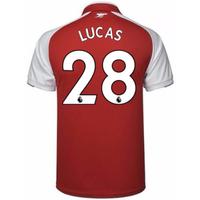 2017-18 Arsenal Home Shirt (Lucas 28)