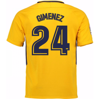 2017-18 Atletico Madrid Away Shirt (Gimenez 24) - Kids