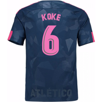 2017-18 Atletico Madrid Third Shirt (Koke 6) - Kids