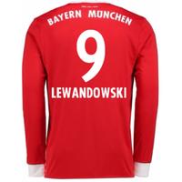 2017-18 Bayern Munich Home Long Sleeve Shirt (Lewandowski 9)