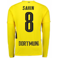 2017-18 Borussia Dortmund Long Sleeve Home Shirt (Sahin 8)