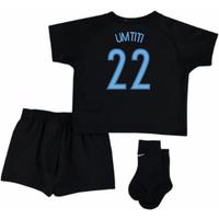 2017-18 France Away Nike Mini Kit (Black) (Umtiti 22)