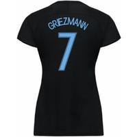 2017-18 France Away Nike Womens Shirt (Black) (Griezmann 7)