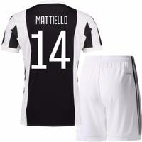 2017-18 Juventus Home Mini Kit (Mattiello 14)