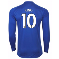 2017-18 Leicester City Home Long Sleeve Shirt (King 10)