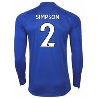 2017-18 Leicester City Home Long Sleeve Shirt (Simpson 2)