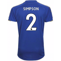 2017-18 Leicester City Home Shirt (Simpson 2)