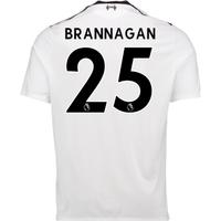 2017-18 Liverpool Away Shirt (Brannagan 25) - Kids