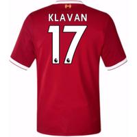 2017-18 Liverpool Home Short Sleeve (Kids) (Klavan 17)