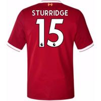 2017-18 Liverpool Home Short Sleeve (Kids) (Sturridge 15)
