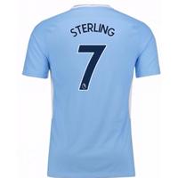 2017-18 Man City Home Shirt - Kids (Sterling 7)