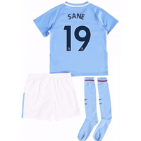 2017-18 Man City Mini Kit (Sane 19)