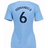 2017-18 Man City Womens Home Shirt (Fernando R 6)