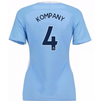 2017-18 Man City Womens Home Shirt (Kompany 4)