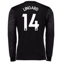 2017-18 Man Utd Away Long Sleeve Shirt (Kids) (Lingard 14)