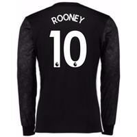 2017-18 Man Utd Away Long Sleeve Shirt (Kids) (Rooney 10)