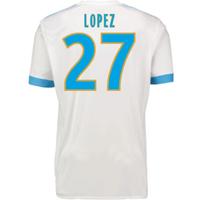 2017-18 Marseille Adidas Home Shirt (Kids) (Lopez 27)