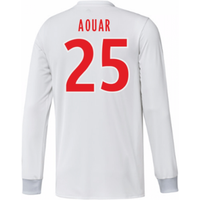 2017-18 Olympique Lyon Adidas Long Sleeve Home Shirt (Aouar 25)