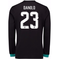 2017-18 Real Madrid Away Long Sleeve Shirt - Kids (Danilo 23)