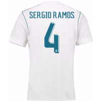 2017-18 Real Madrid Home Shirt - Kids (Sergio Ramos 4)